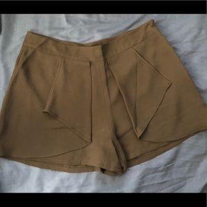 Forever 21 High Waisted Black Ruffle Shorts